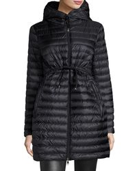 Moncler - Black Barbel Hooded Puffer Coat - Lyst