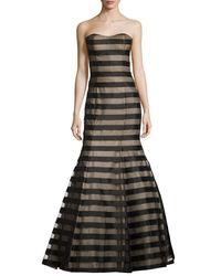 La Femme - Black Strapless Fil Coupe Mermaid Gown - Lyst