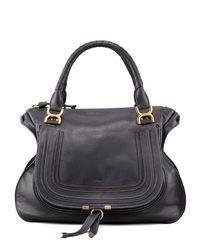 Chloé - Black Marcie Large Leather Shoulder Bag - Lyst