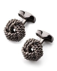 Tateossian - Multicolor Knot Round Cuff Links for Men - Lyst