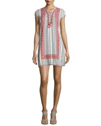 Calypso St. Barth - Multicolor Pinarma Lace-up Striped Sheath Dress - Lyst