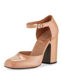 Laurence Dacade - Multicolor Mindy Patent D'orsay Ankle-wrap Pump - Lyst