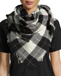 Étoile Isabel Marant - Gray Loria Plaid Wool-silk Scarf - Lyst