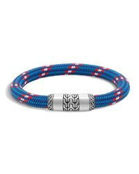 John Hardy - Blue Men's Classic Chain Multicolor Cord Bracelet for Men - Lyst