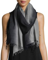Eileen Fisher - Blue Silk-cashmere Ombre Scarf - Lyst