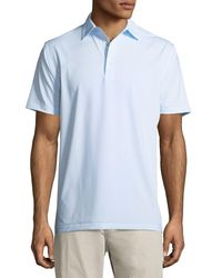 Peter Millar - Blue Halford Striped Stretch Jersey Polo Shirt for Men - Lyst