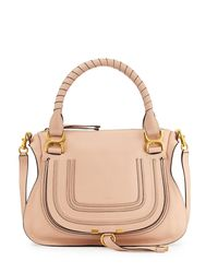 Chloé - Pink Marcie Medium Satchel Shoulder Bag - Lyst
