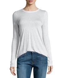 ATM | White Long-sleeve Melange Jersey Tee | Lyst