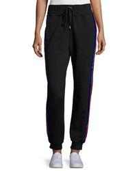 Public School - Black Lucia Side-stripe Jogger Pants - Lyst