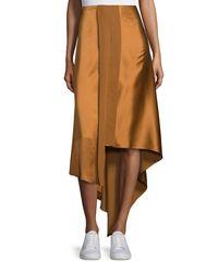 Elizabeth and James - Multicolor Sydney Silk Satin Midi Skirt - Lyst