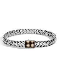 John Hardy - Metallic Men's Classic Chain Jawan Sterling Silver & 18k Gold Bracelet for Men - Lyst