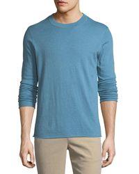 ATM - Blue Slim Cashmere Crewneck Sweater for Men - Lyst