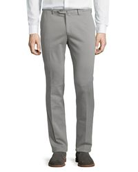Loro Piana - Gray Soft Stretch-cotton Slim-fit Pants for Men - Lyst