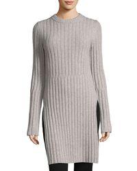 Joseph Natural Soft Wool Rib Tunic