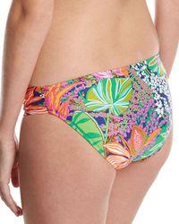 Trina Turk - Multicolor Tropic Escape Shirred-side Hipster Swim Bottom - Lyst