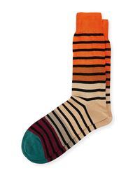 Paul Smith - Brown Fialor Striped Colorblock Socks for Men - Lyst