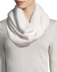 Sofia Cashmere - White Sequined Cashmere/silk Infinity Scarf - Lyst