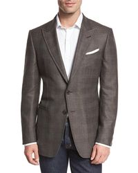 Tom Ford - O'connor Base Glen Plaid Two-button Sport Coat Brown for Men - Lyst