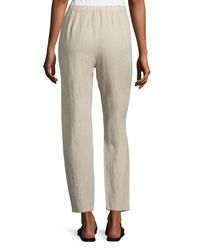 Eileen Fisher - Multicolor Organic Linen Slouchy Pants - Lyst