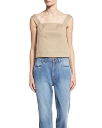 Robert Rodriguez | Gray Sleeveless Open-back Top | Lyst
