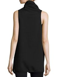 Michi - Black Revolver Reversible Wrap Vest - Lyst