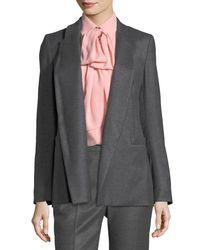 ESCADA - Gray Open-front Shawl-collar Flannel Blazer - Lyst