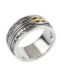 Konstantino - Metallic Men's Sterling Silver & 18k Gold Cross Ring for Men - Lyst