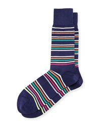 Paul Smith - Blue Mondo Multicolor-stripe Socks for Men - Lyst