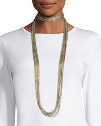 Lafayette 148 New York - Multicolor Tea Long Mesh Necklace - Lyst
