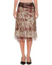 N°21 - Black Plaid A-line Embellished Tulle Skirt - Lyst