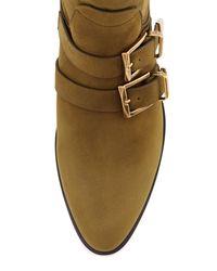 Chloé - Multicolor Suede Buckle Mid-calf Boot - Lyst