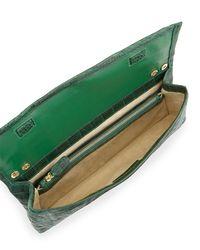 Nancy Gonzalez - Green Gotham Crocodile Flap Clutch Bag - Lyst