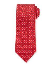 Ferragamo - Pink Gancini Pint Tie for Men - Lyst