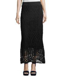 XCVI - Black Cecilia Crochet Skirt - Lyst