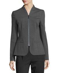 ESCADA - Gray Zip-around Jersey Jacket - Lyst