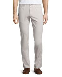 Peter Millar - Gray Five-pocket Stretch-cotton Pants for Men - Lyst