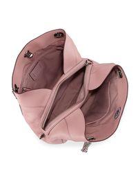 COACH - Pink Turnlock Edie Leather Shoulder Bag - Lyst