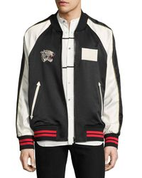 Ovadia And Sons - Black Paradise Leopard Reversible Souvenir Bomber Jacket for Men - Lyst