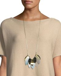 Lafayette 148 New York - Multicolor Multi-leaf Long Statement Necklace for Men - Lyst