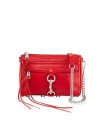 Rebecca Minkoff - Red Mini Mac Nubuck Crossbody Bag - Lyst