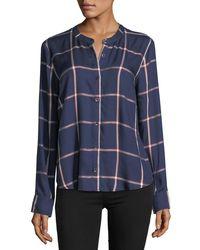 Splendid - Blue Reily Plaid Button-up Shirt - Lyst