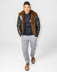 Ferragamo | Black Shealing-lined Lamb's Nappa Runway Bomber Jacket for Men | Lyst