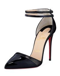 Christian Louboutin - Black Uptown Double Red Sole Pump - Lyst
