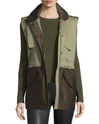 Rag & Bone - Green Kinsley Cotton Colorblock Vest - Lyst