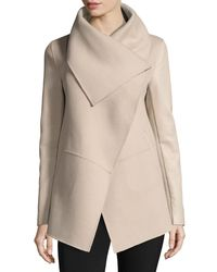 Mackage | Natural Vane Waterfall Collar Wool-blend Coat | Lyst