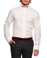 Dolce & Gabbana White Pique Lsw W Crown Coll for men