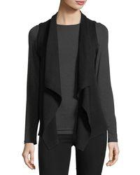 Neiman Marcus - Black Exposed-seam Cashmere Vest - Lyst