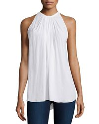 Ramy Brook - White Paris Halter-neck Top - Lyst