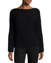 Calvin Klein - Black Chunky Knit Boat-neck Sweater - Lyst