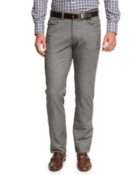 Peter Millar - Gray Crown Mountainside Flannel 5-pocket Pants for Men - Lyst